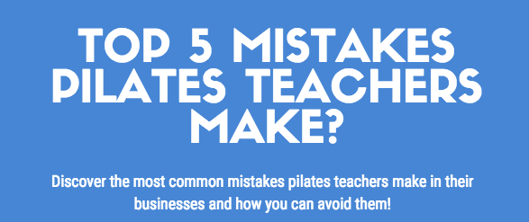 Top 5 Mistakes Pilates Teachers Make